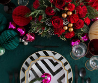 Whimsical vintage holiday place setting with Teleflora on 100 Layer Cake
