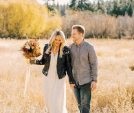 Fall, golden hour engagement photos in Nevada