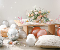 Girly, sparkly NYE party for kids with Beijos Events on 100 Layer Cakelet