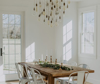 Rustic modern dining room