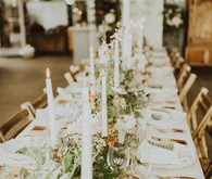 Charming greenhouse wedding reception in on the Isle of Mull in Scotland