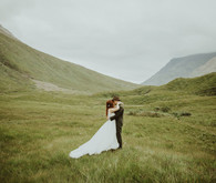 Charming indie Scottish Isle wedding
