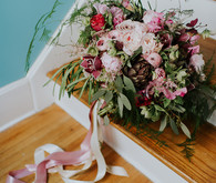 Over the top pink bridal bouquet