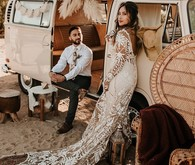 Bohemian road trip elopement ideas in Joshua Tree