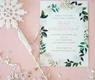 Feminine winter wonderland 1st birthday party