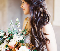 loose bridal hairstyle