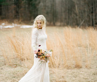 Feminine neutral wedding ideas at Foxfire Mountain House in the Catskills