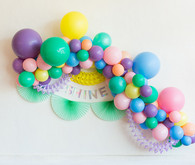 Pastel balloon arch decor