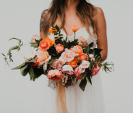 Sunset colored bouquets