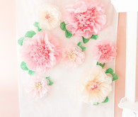 Pink floral first birthday party ideas on 100 Layer Cakelet