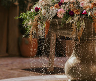 Floral fountain decor