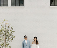 Moody modern wedding at Cherry Hollow Farms in Atlanta
