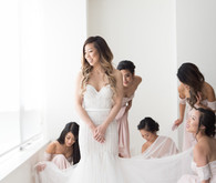 Modern graphic warehouse wedding in Toronto