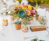 Modern feminine Santa Cruz wedding with boho details