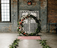 Romantic, industrial, floral wedding at Basilica Hudson in the Hudson Valley