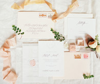 Blush wedding invitation suite