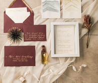 elegant earth tone wedding invitations