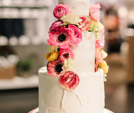 Simple modern wedding cake