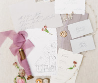 Elegant handwritten wedding invitations