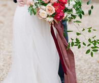 Bright ombre bouquet