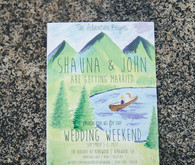 Camping wedding invitations
