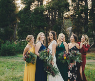 Sierra camp wedding at the Hideout in Kirkwood CA