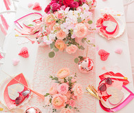 Pink and red floral Valentine's Day party