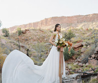 Sunset elopement at Under The Canvas in Zion National Park