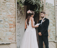 Romantic old world destination wedding in Tuscany