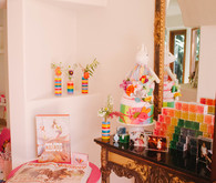 Rainbow baby shower theme in LA for Cammy of Show Me Your Mumu