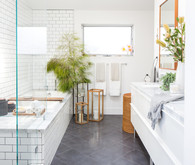 Modern bathroom registry with Crate and Barrel