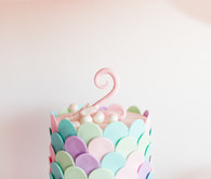 fish scale birthday cake