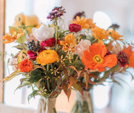 orange poppy bridal bouquet