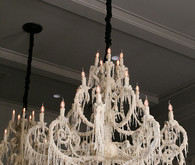 Candle wax chandilier