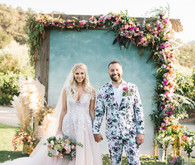 Stylish, whimsical, floral wedding at De Tierra Vineyards