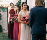Bougainvillea inspired wedding at 5 Crowns restaurant in Corona Del Mar