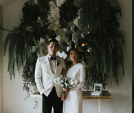 Moody minimalist spring wedding at The Ruby Street in Los Angeles