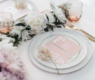 Modern French pink and blush bridal shower