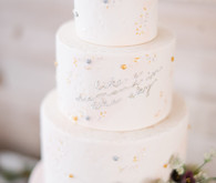 Feminine moon & stars baby shower on 100 Layer Cakelet