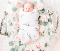 Floral styled newborn photos