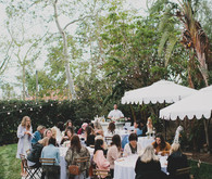 Parisian backyard baby shower