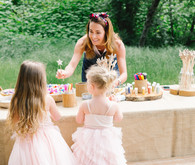 Fairyland birthday party for sisters at Temescal Canyon in Los Angeles