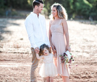 Rustic sunset family photos in Western Australia