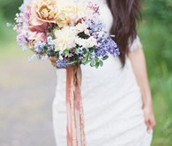 Pastel summer bridal bouquet
