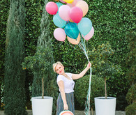 Colorful balloon bouquet