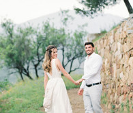 Romantic wedding portraits in Spain