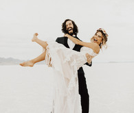 Salt flat wedding portraits