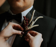 Luxe, moody butterfly inspired wedding