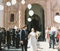 Romantic summer destination wedding in the Spanish countryside