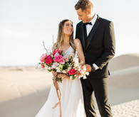 Formal engagement photos on the Sand Dunes of Glamis, CA